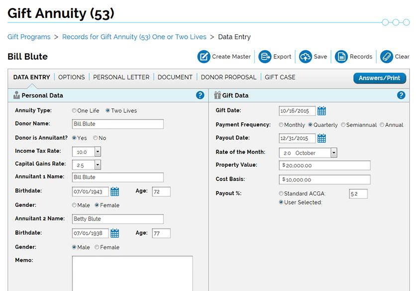 Charitable Tax Proposal Software - Crescendo Interactive